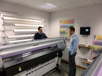 Sitting alongside the company's Mimaki JV33, the new JV400 latex printer is primarly used for vehicle graphics