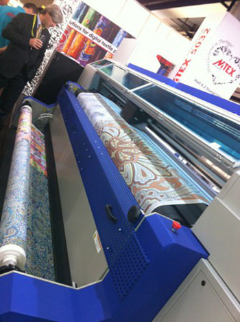The best-selling MTEX 5032 3.2m wide textile printer with in-built fixation