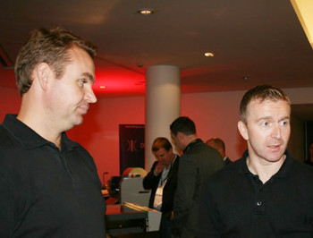 L-R Chris Davies EPSON UK and Daniel Rafferty EPSON Ireland