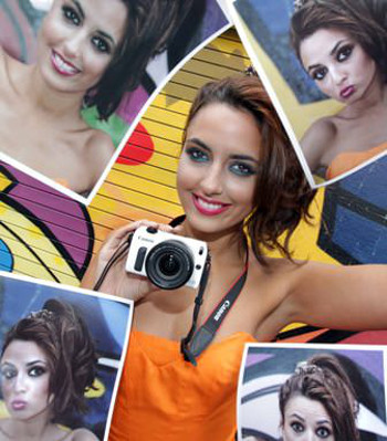 Pictured for the launch of Canon's latest Cashback scheme is model Nadia Forde