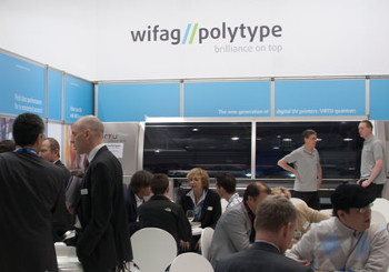 The Virtu quantum attracted significant attention to the WIFAG-Polytype stand at drupa 2012