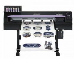 The Mimaki CJV150-75 integrated printer/cutter