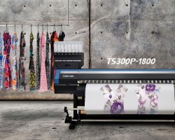 The Mimaki TS300P-1800 dye sublimation printer received Viscom's Best of Award for Textile Refinement