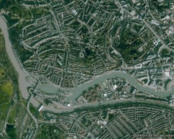 Very High Resolution satellite image of the city centre of Bristol, UK.
