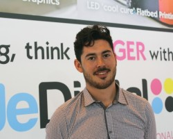 Luke Drogan, business development manager at SuperWide Digital, now has all the right equipment to meet his customers' expectations