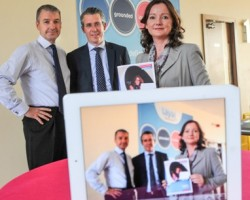 (L-R) Ian Brennan, Director of IT, laya healthcare; Duncan Groom, Managing Director, Neopost Ireland; and Joanne Boyle, Head of Customer Service at laya healthcare.
