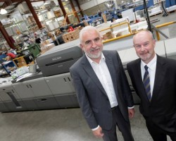 Pictured are (L-R) Padraic Kierans, managing director of Anglo Printers, with Paul Kealy Production Print Division of Ricoh Ireland