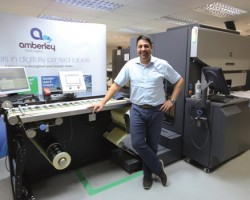 Trevor Smith, Managing Director, Amberley Labels, with the new HP Indigo WS6800 Digital Press