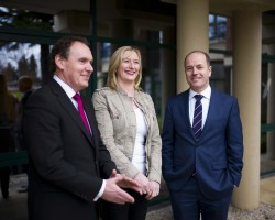 Pictured at the announcement are L-R; Ray Byrne, channel director, Ricoh Ireland, Linda Byrne, ICT Assistant and Technical Support, Eurofound and Greg Clarke, managing director, Digicom.