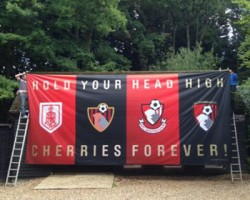 Banners For All produces huge football flags for clubs up and down the country