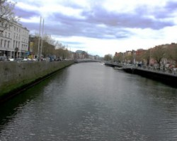 River Liffey Dublin from O'Connel Bridge
