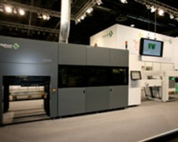 The new Highcon C&C press on display at Drupa