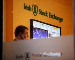Irish Stock Exchange reception screen