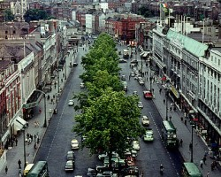 O'Connell St., Dublin from_Nelson's Pillar, 1964