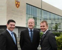 Pictured at IT Carlow are John Jones Datapac  Fergal Flanagan IT Carlow and Patrick Kickham Datapac