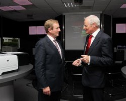 Michael Murphy and An Taoiseach discussing HP in Galway