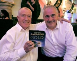 Horizon MD's L-R Ken Kavanagh and Derek Gillen with the winning trophy