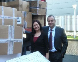 Kerry Foster, New Business & Product Development Manager, Antalis UK; Tim Percival, National Office Director, Antalis UK